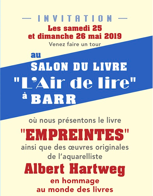 Invitation à voir les oeuvres d'Albert Hartweig